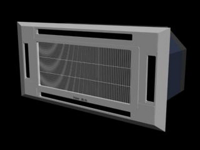Household Appliances Model: Ceiling Cassette Air Conditioner 3D Model