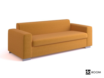 IKEA style multiplayer sofa 3D Model
