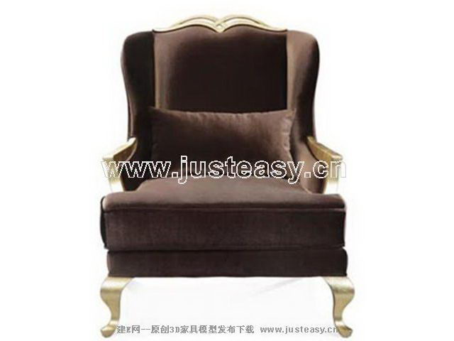 Imitation of European home sofa 3D model (including materials)