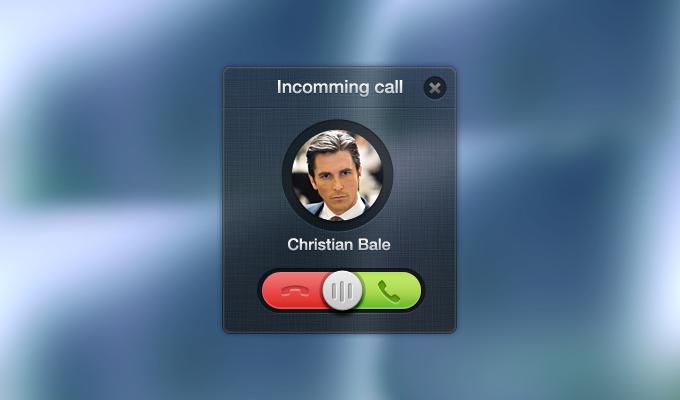 Incoming Call PSD