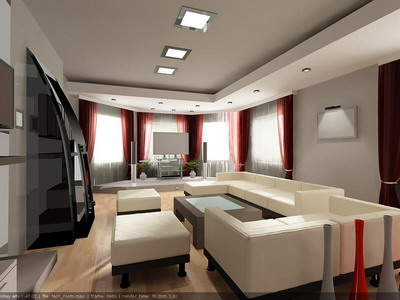 indoor space 032 /  living rooms 3D Model