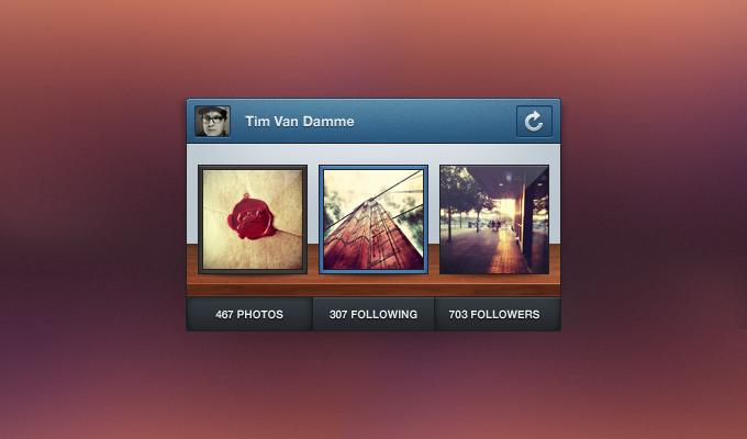 Instagram Mini Profile PSD