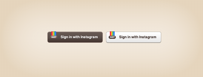 Instagram Sign-in Buttons PSD