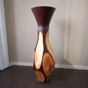 Interior decoration wooden vase 3D Model