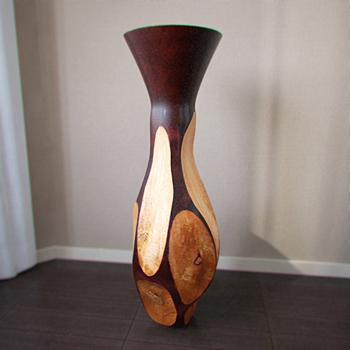 Interior decoration wooden vase 3D Model