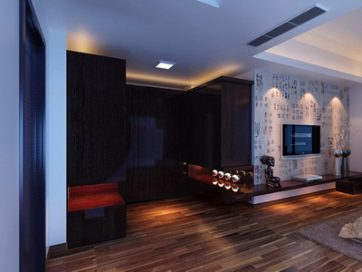 Interior Design: Chinese Style Bedroom Design 3D Model