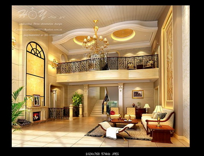 Interior Design Model Livingroom: 2-Deck Livingroom 3D Model