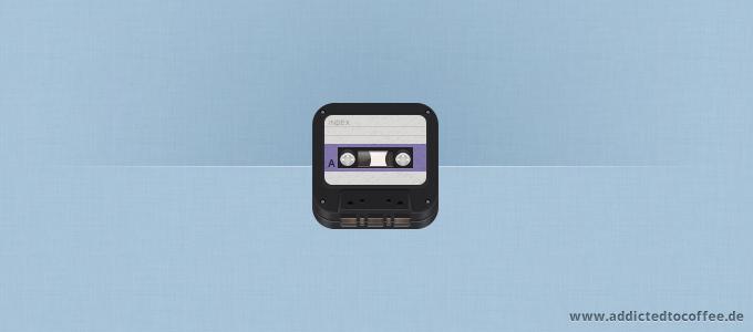 iOS Retro Cassette Icon PSD
