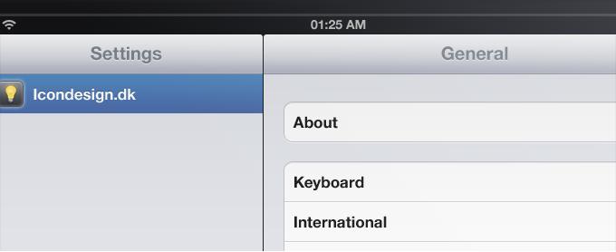 iPad Application Interface PSD