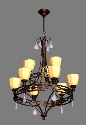 Iron and chandelier Model Portfolio Covers 3D Model