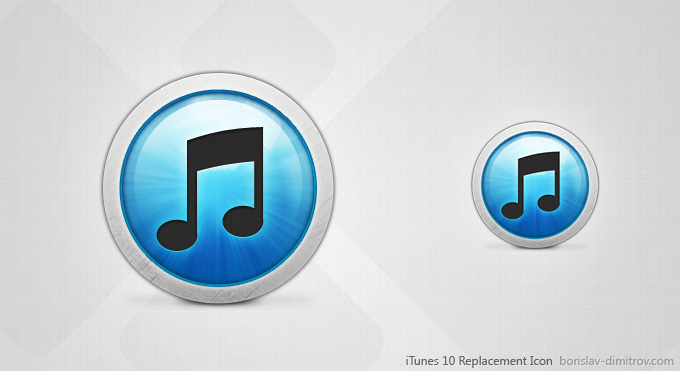 iTunes 10 Replacement Icon PSD