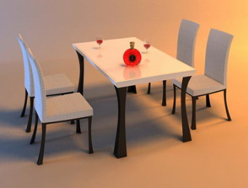 Kitchen furniture dinette portfolio 3D Model