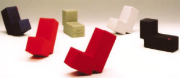 L-shaped chair of the Creative Arts 3D Model