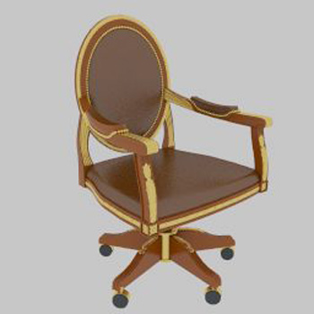 Leather swivel chair 3D Model