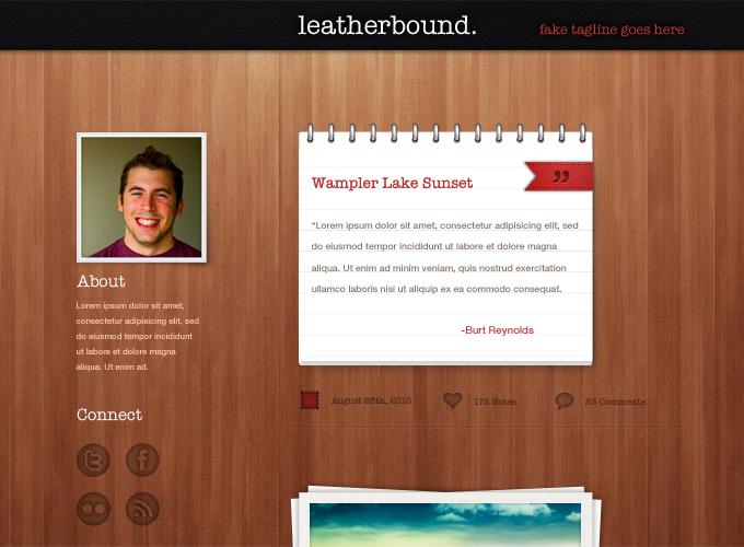Leatherbound Tumblr Theme PSD
