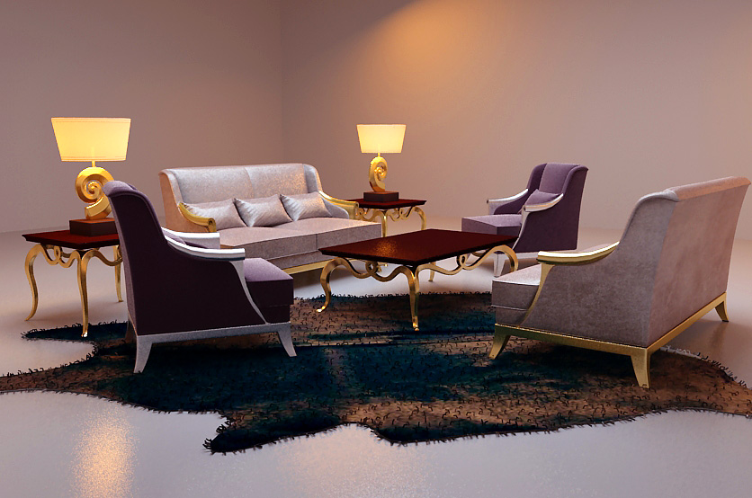 Leisure sofa combination of Po Yang 3D Model