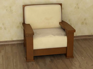Light brown comfortable single sofa 3D Model