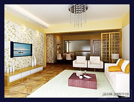 Light Color Comfortable Living Room Render Demo 3D Model