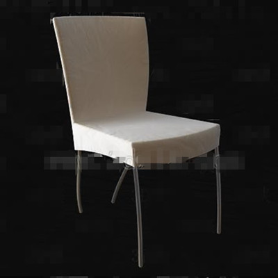 Light colored metal legs chair 3D Model