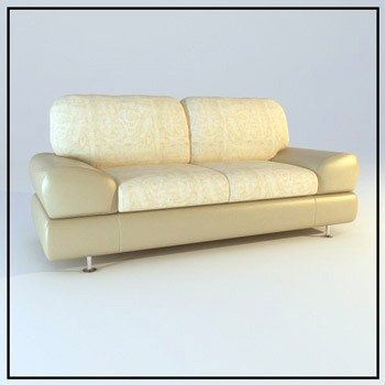Light comfortable double sofa 3D Model