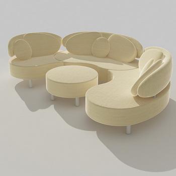 Light corner sofa 3D Model