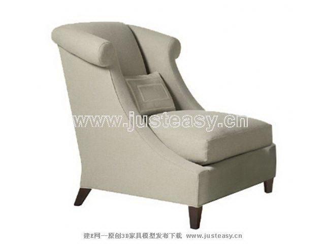 Light gray back sofa 3D model (including materials)