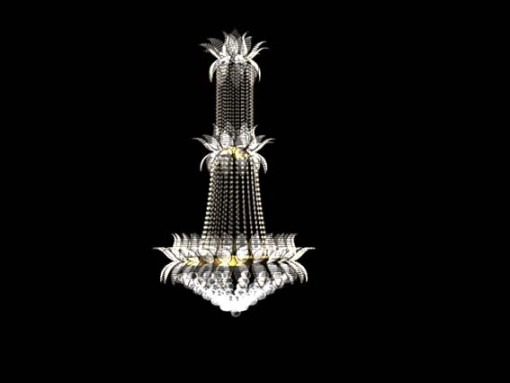 Lighting  – chandeliers 002 3D Model