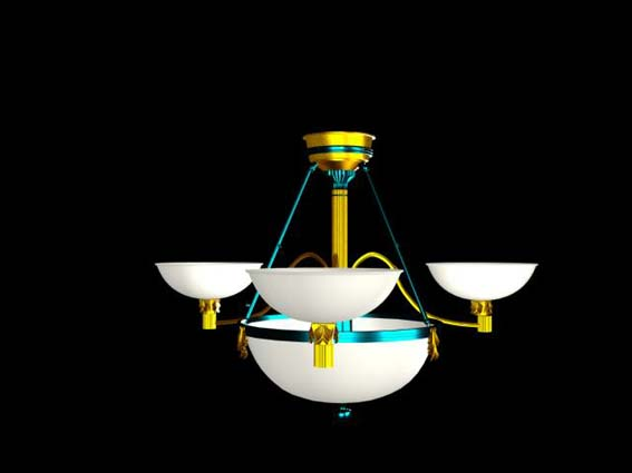 Lighting  – chandeliers 009 3D Model