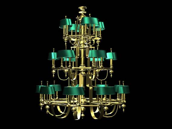 Lighting – chandeliers 010 3D Model