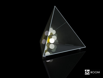 Lighting model: triangular plastic arts table lamp 3D Model