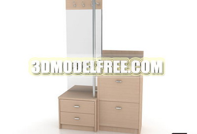 Lockers wardrobe cabinet wood furniture finishing 3D Models