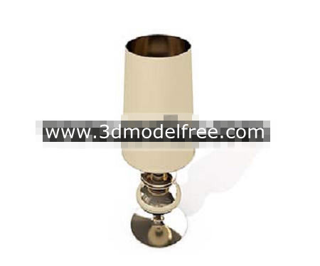 Long cylindrical metal lamp 3D Model
