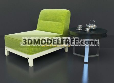 Lounge Chair –Apple Green 3D Model