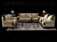 Luxurious and comfortable sofa combination 3D Model