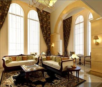 Luxurious golden comfortable living room 3D Model