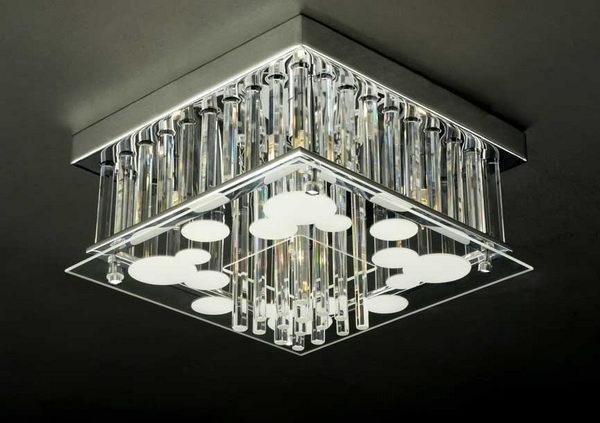 Luxury Cuboid Crystal Pendant Lamp 3D Model