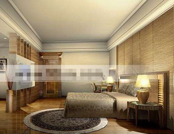 Luxury European-style master bedroom 3D Model