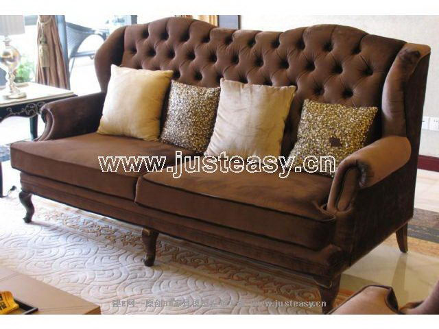 Luxury leather sofas 3D Model