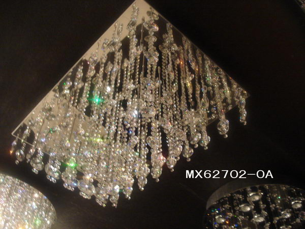 Luxury Rectangle Crystal Ceiling Lamp 3D Model