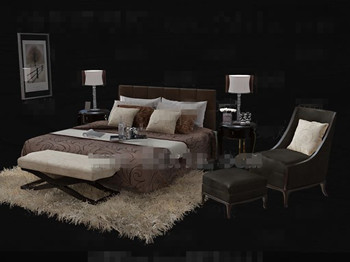 Luxury stable and comfortable bedroom 3D Model