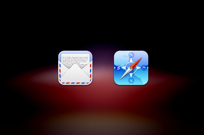 Mail & Safari Icons PSD