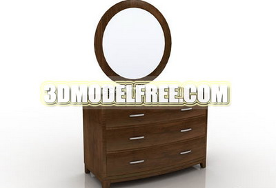 Make-up mirror, dresser table, furniture, jewelry counters in the classical 3D Models