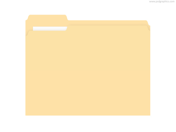 Manila folder (PSD)