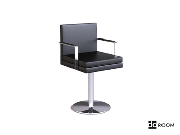 Metal handrails cortex swivel chair 3D Model