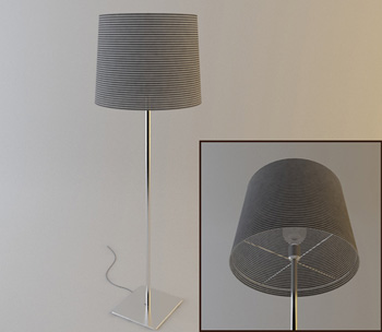 Metal lamp post floor lamp model 3D Model
