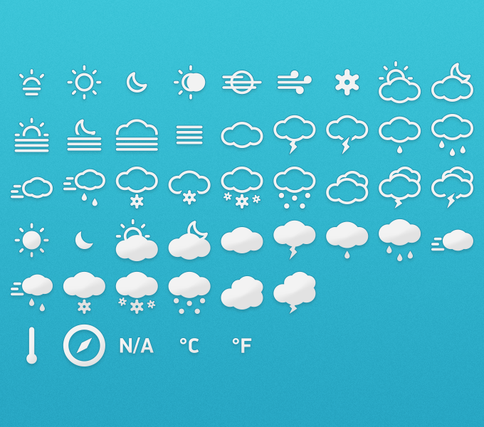Meteocons – Icons + Fonts PSD