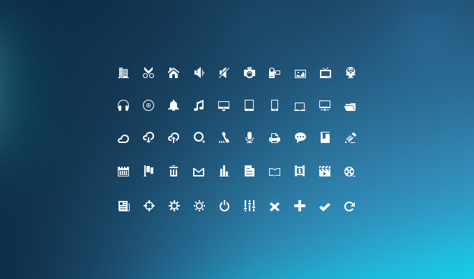 Mini Glyphs Icon Set PSD