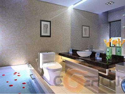 Minimalism Bathroom Design 3D Model