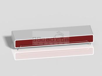 Minimalist modern style TV cabinet 3D model