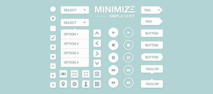 Minimize UI Kit PSD